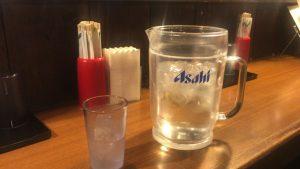 那覇松山にある丸麺屋製作所 水がでかい