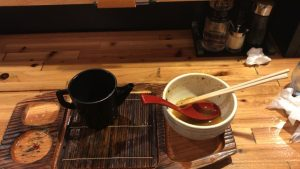 麺場神徳の辛つけ麺を完食